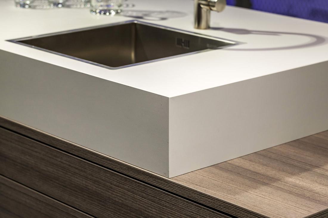 Vliesbehang praxis for Werkblad keuken keramiek